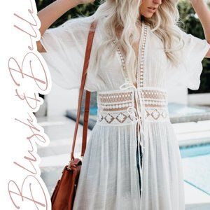 ISLA Ivory Open Front Duster Length Cover-Up